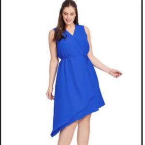 NWOT Donna Ricco Sleeveless Asymmetrical Dress